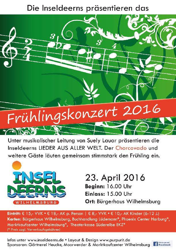 Frühlingskonzert 2016 Inseldeerns