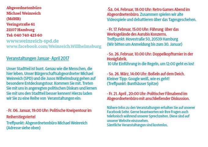 Postkarte Veranstaltungen mit Josos Rückseite